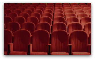 rows of theatre seats